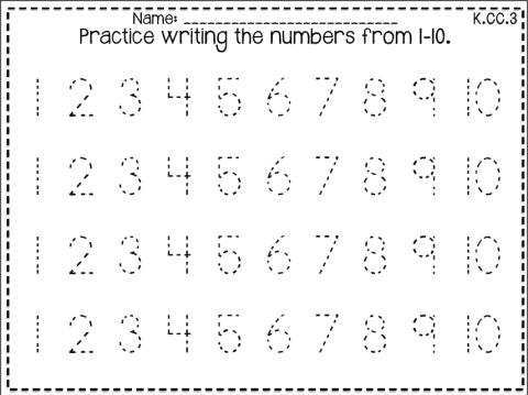 Practice Writing Numbers 1 10 Worksheets - Worksheets