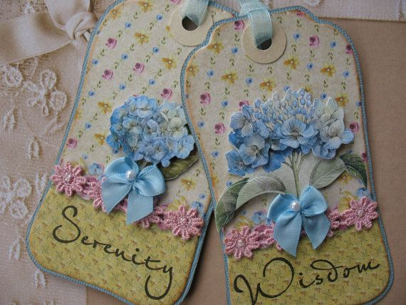BLUE SPRING FLOWER  Shabby Chic Handmade Gift by MelodysMoments, $6.50