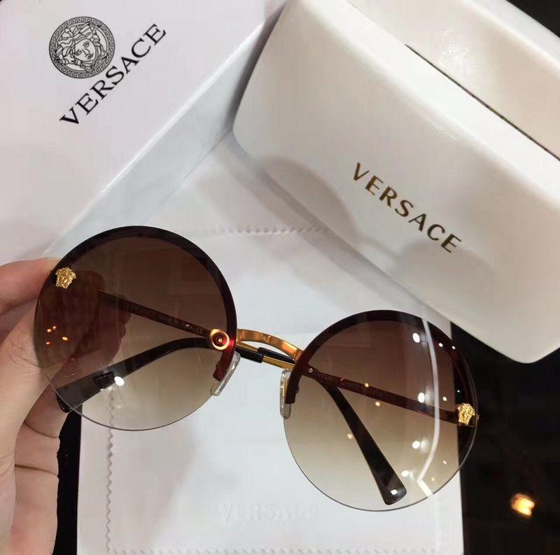 3a7245ebb71 Wholesale Replica Versace 2176 Retro Round Frame Sunglasses