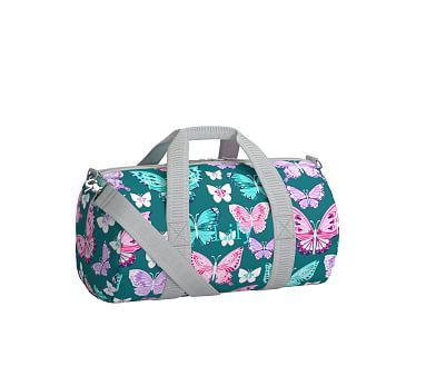 634673ad6f56 Mackenzie Teal Pretty Butterfly Duffle Bag