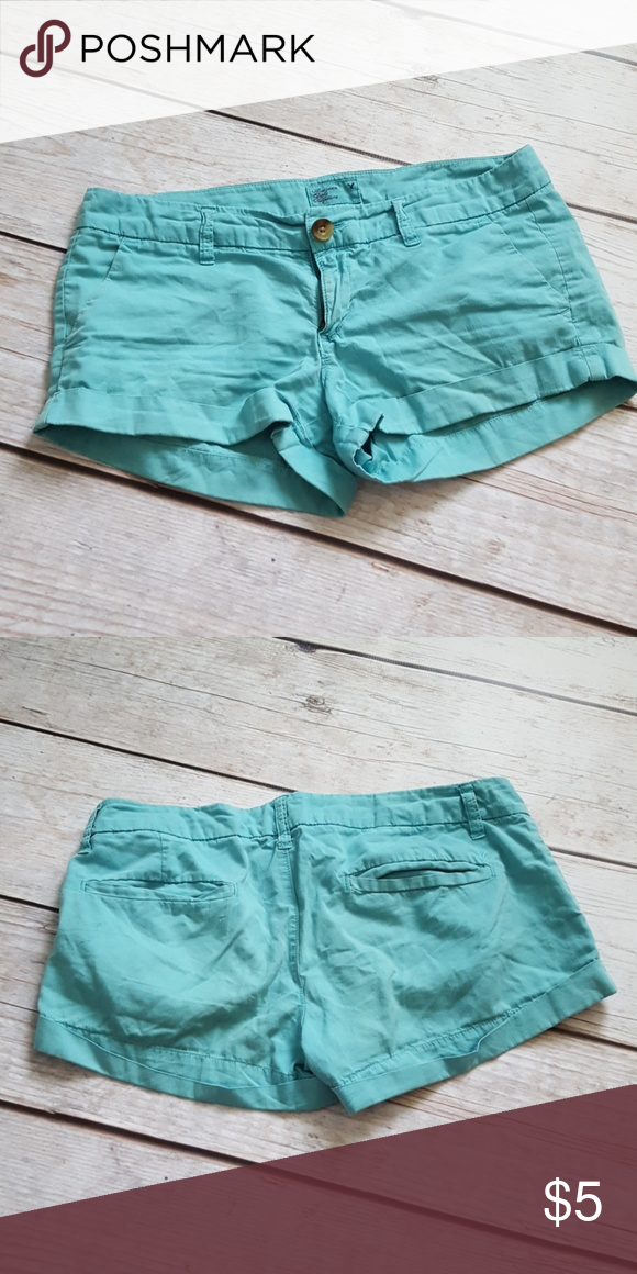 Ae Turquoise Shorts Turquoise Shorts Clothes Design American Eagle Outfitters Shorts