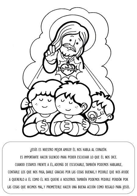 La Catequesis Explicacion Con Imagenes Para Ninos Sagrado Corazon De Jesus E Inmaculado Corazon De Maria Catequesis Jesus Para Colorear Ninos Catolicos