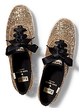 Gold glittered keds for kate spade http   rstyle.me ad  a25956928712