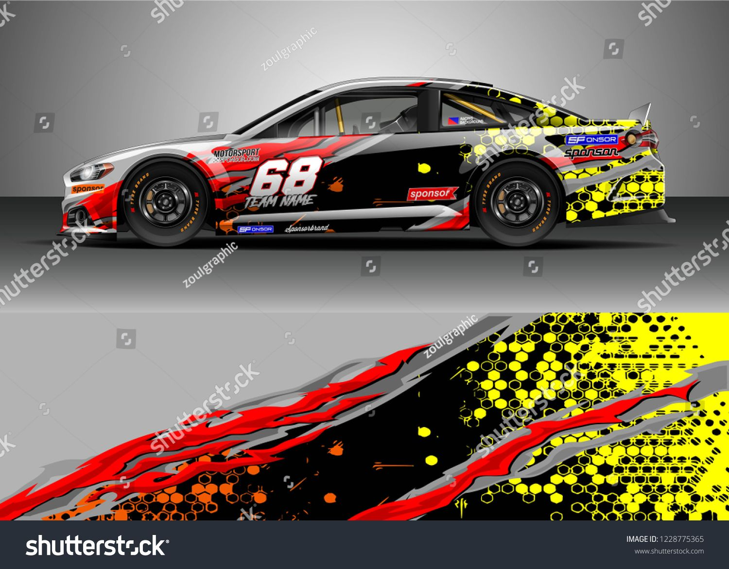 Racing car livery design vector  Graphic abstract stripe