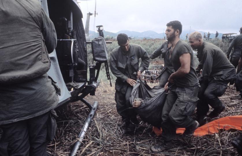 Scene in Vietnam during Operation Pegasus, 1968.