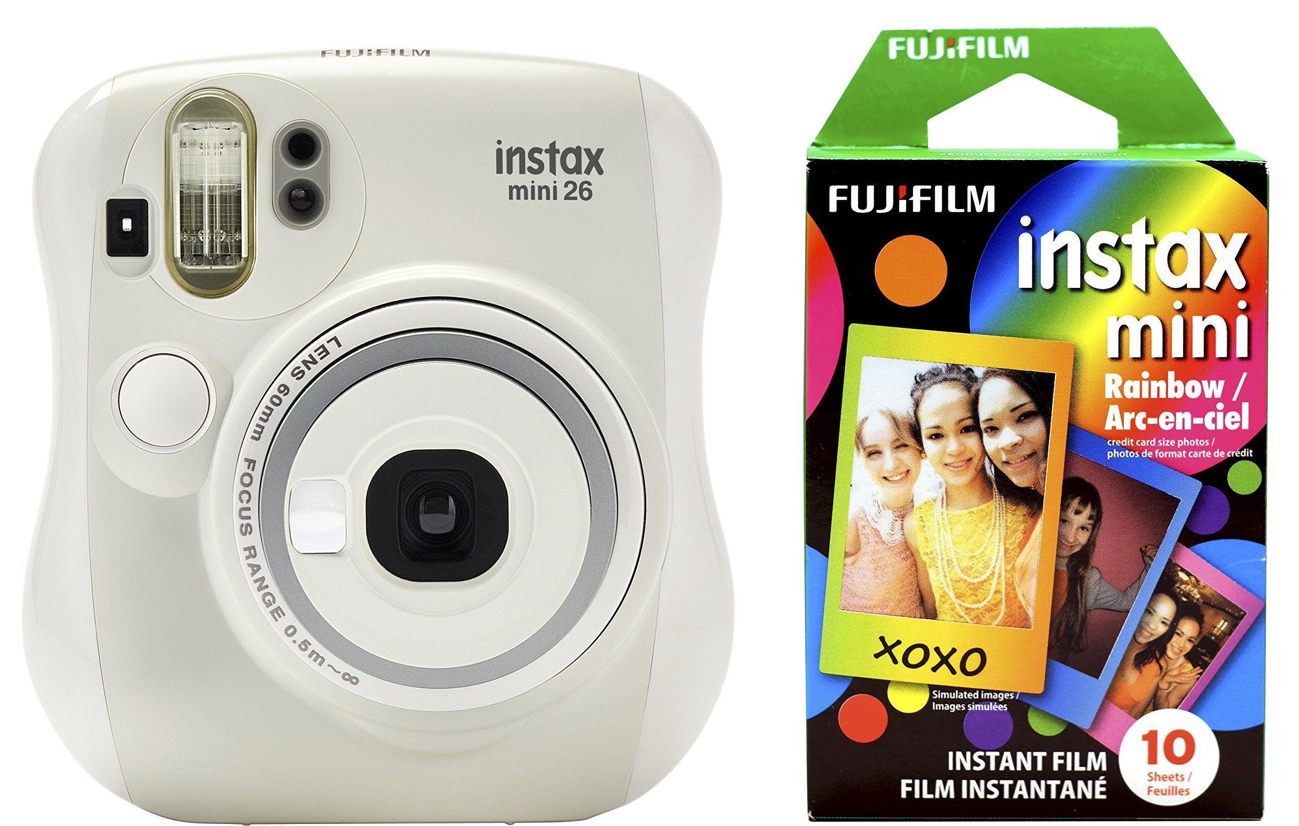 Fujifilm Instax Mini 26 Rainbow Film Bundle White Fujifilm