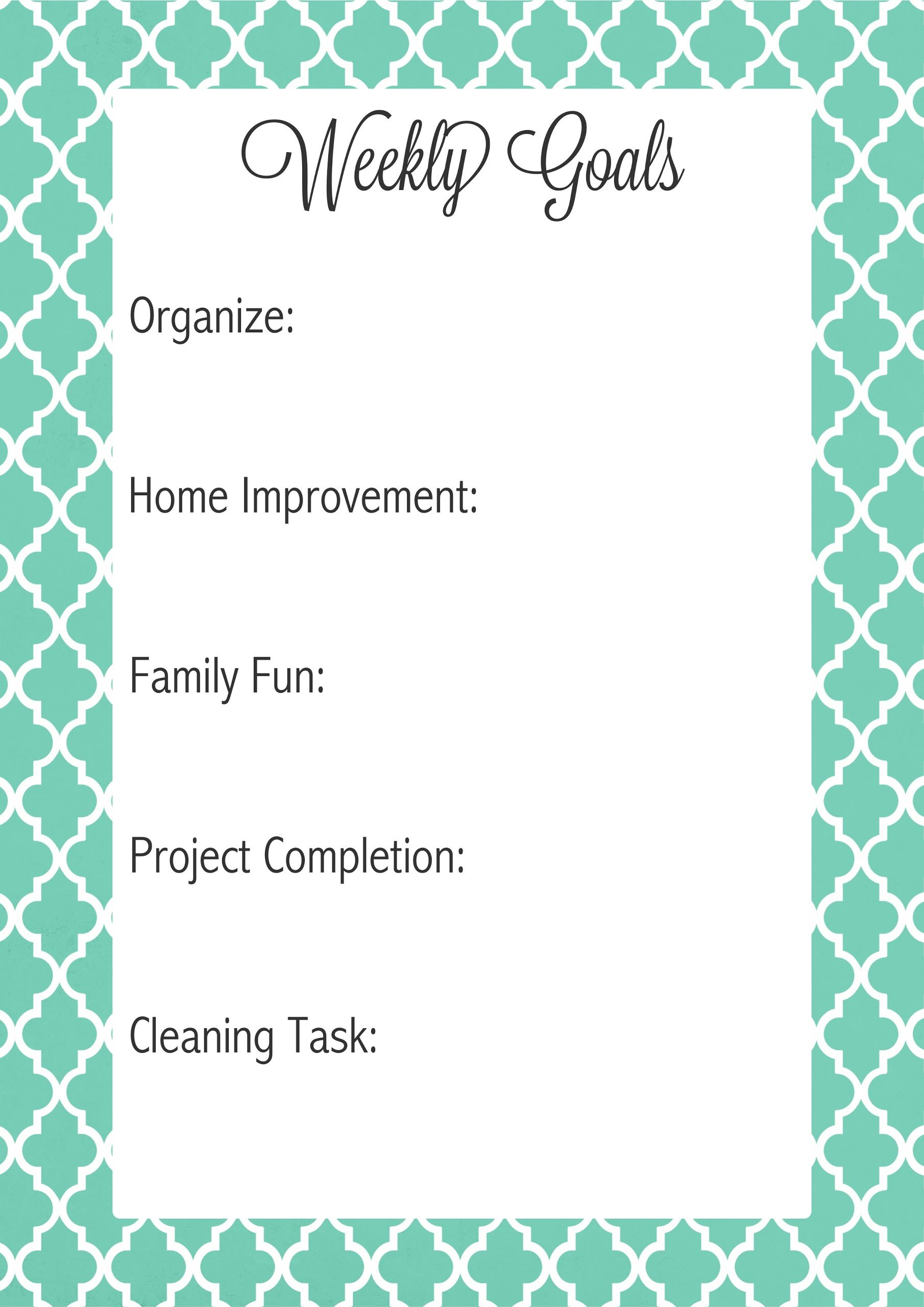Pin by Kelly Draves on Storage & Organizing Weekly goals