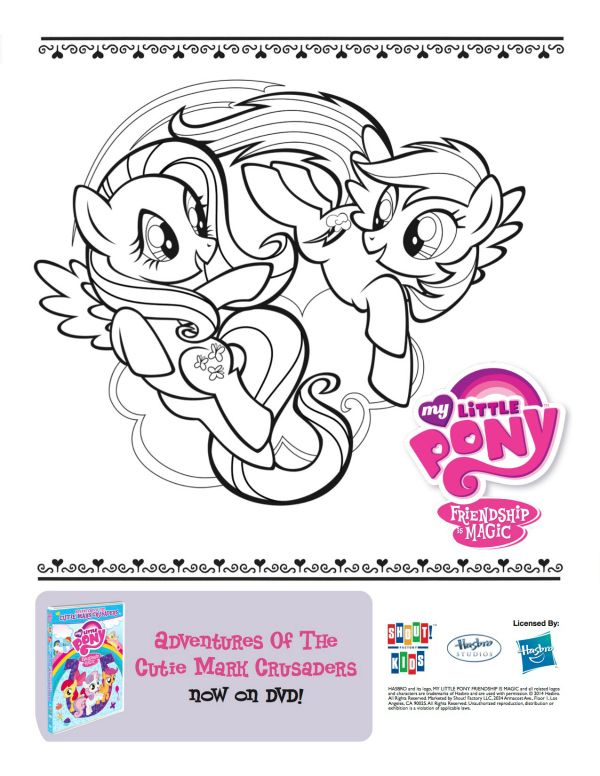 Free Printable My Little Pony Coloring Page | para colorear e ...