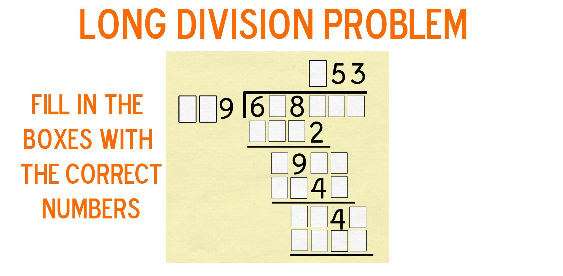 worksheet Long Division Video a long division puzzler video httpswww youtube comwatchv youtube