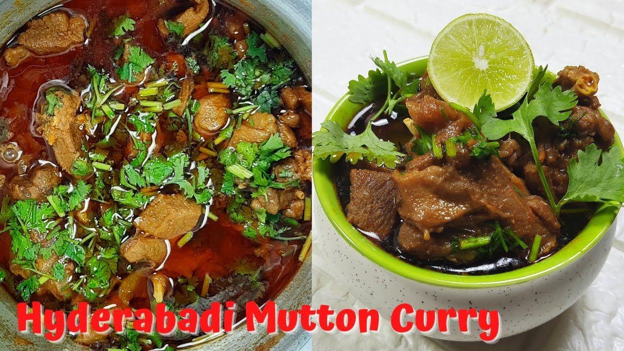 Hyderabadi Mutton Curry Telangana Style Mutton Recipe In 2020 Mutton Recipes Curry Curry Recipes