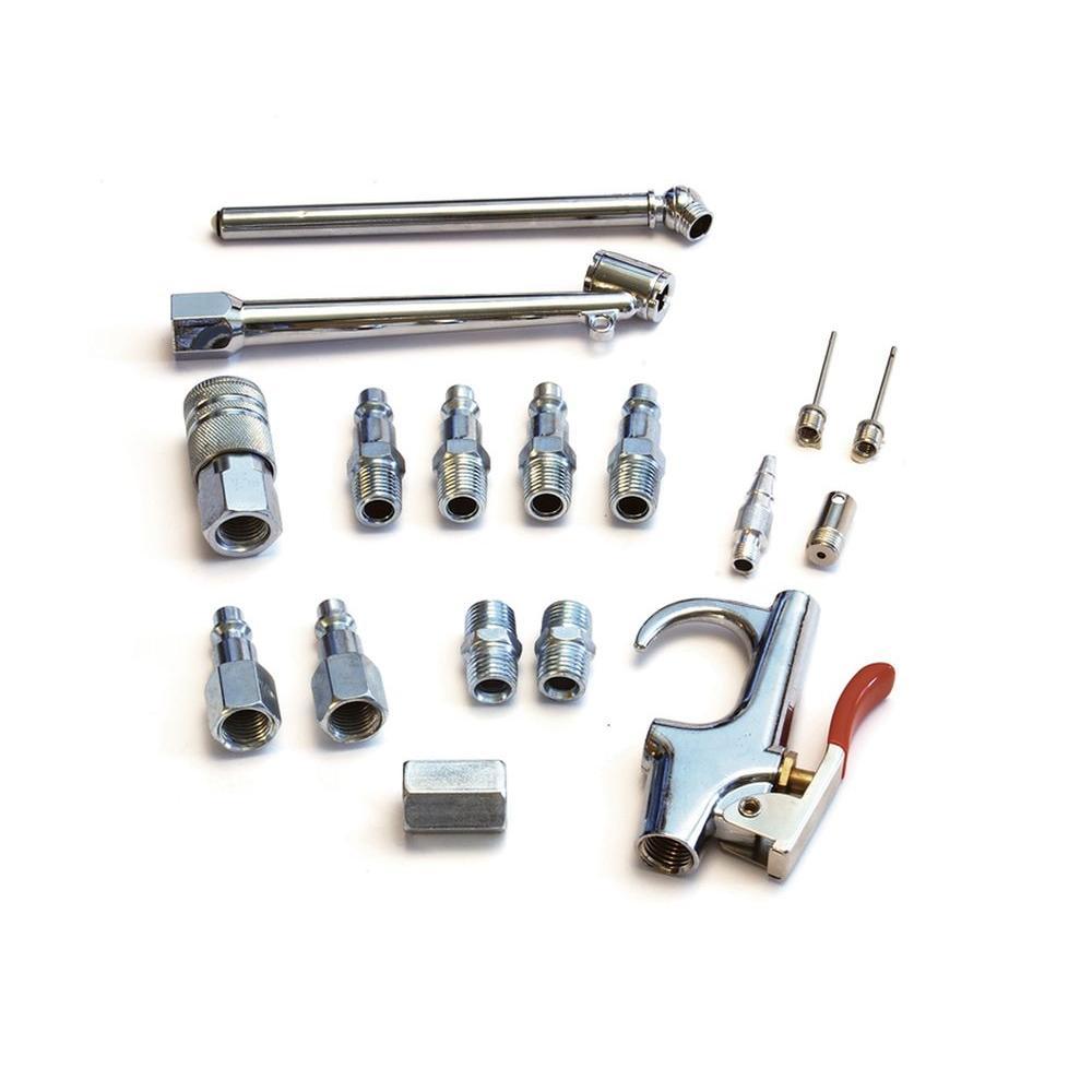 Primefit 17 Piece Air Compressor Accessory Kit Ik1006s 17 The Home Depot Compressor Accessories Air Compressor Accessory Kits