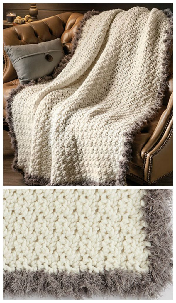 Fur Throw Crochet Pattern Crocheted With A Large Hook And Super