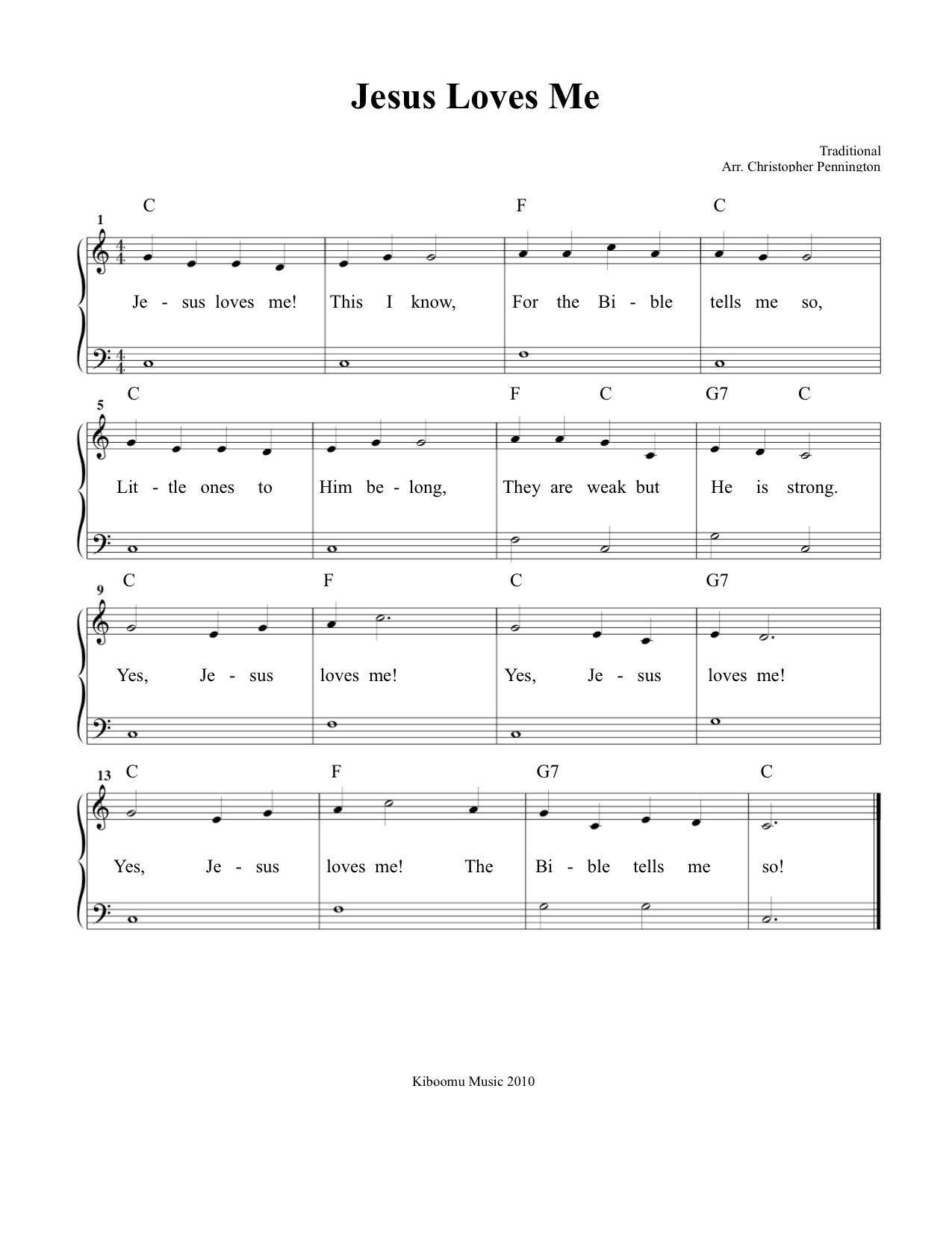 Jesus Loves Me Sheet Music Download Jesus Loves Me Sheet