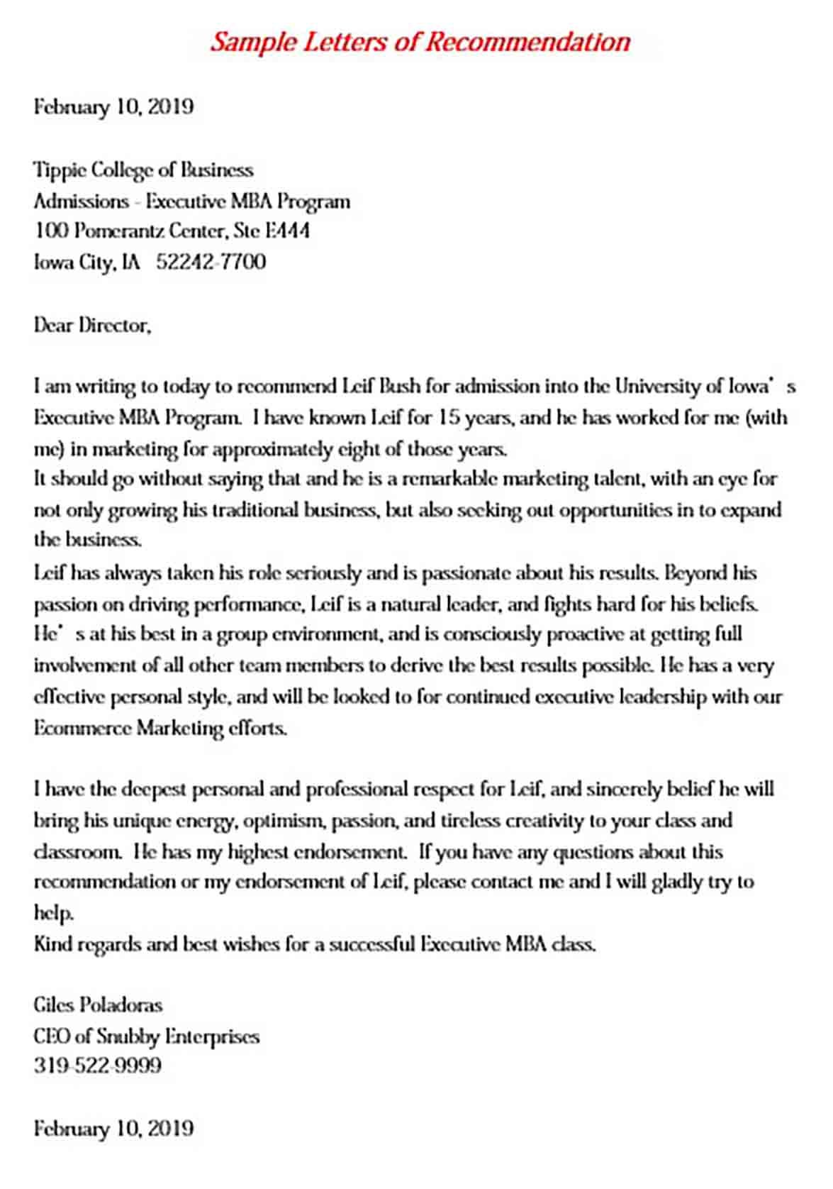 7 mba letter pdf word doc check more at