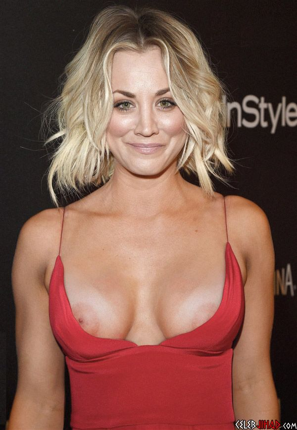 kaley cuoco nipple