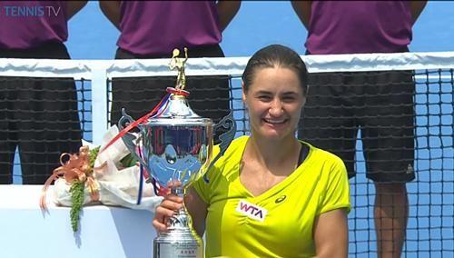 2014 Guangzhou Internat'l Women's Open Champion Monica Niculescu Upsets #1-Seed Alize Cornet 6-4, 6-0! ... Via TennisTV: Monica #Niculescu with her new @W.T.A Guangzhou trophy. #tennis 9/20/14