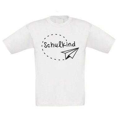 Schulkind Kinder T-Shirt Papierflieger Einschulung Schulanfang Schultüte
