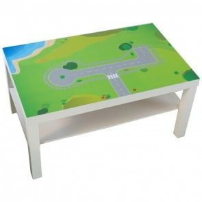 verwandele deinen ikea lack tisch in einen diy spieltisch f r dein kinderzimmer unter www. Black Bedroom Furniture Sets. Home Design Ideas