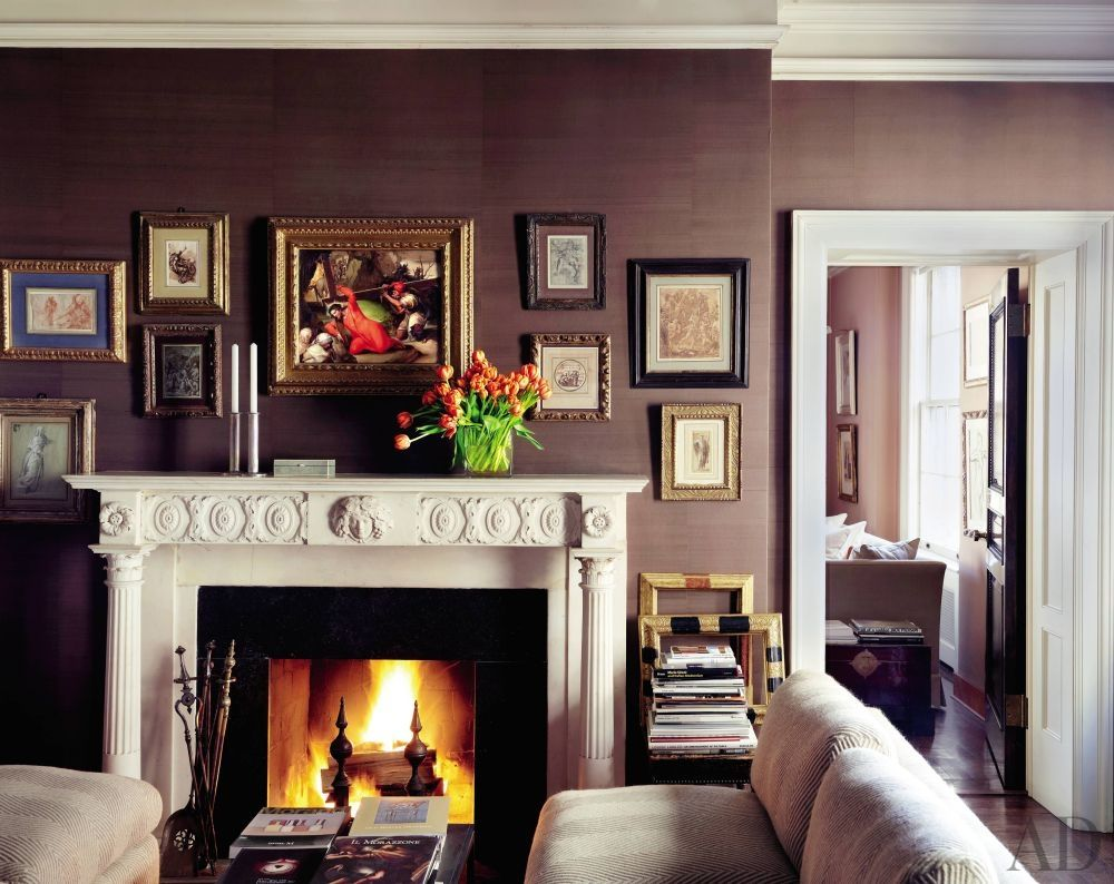 a living area of fashion designer and art collector kasper u0027s