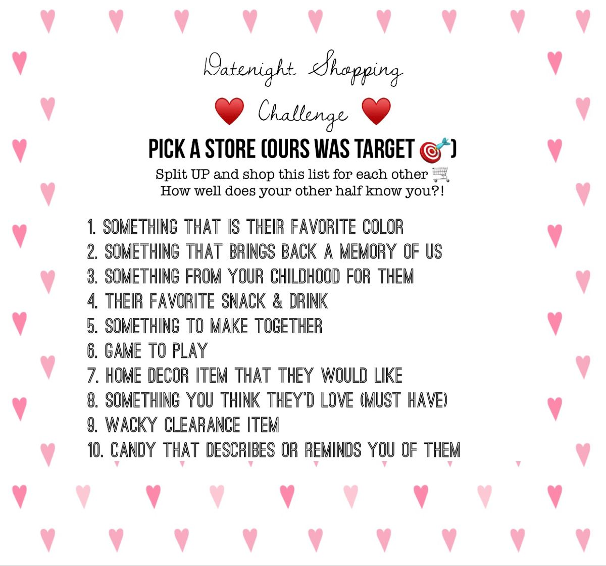 Datenight Shopping Challenge Date Night Gifts Christmas Gifts For Couples Cute Boyfriend Gifts