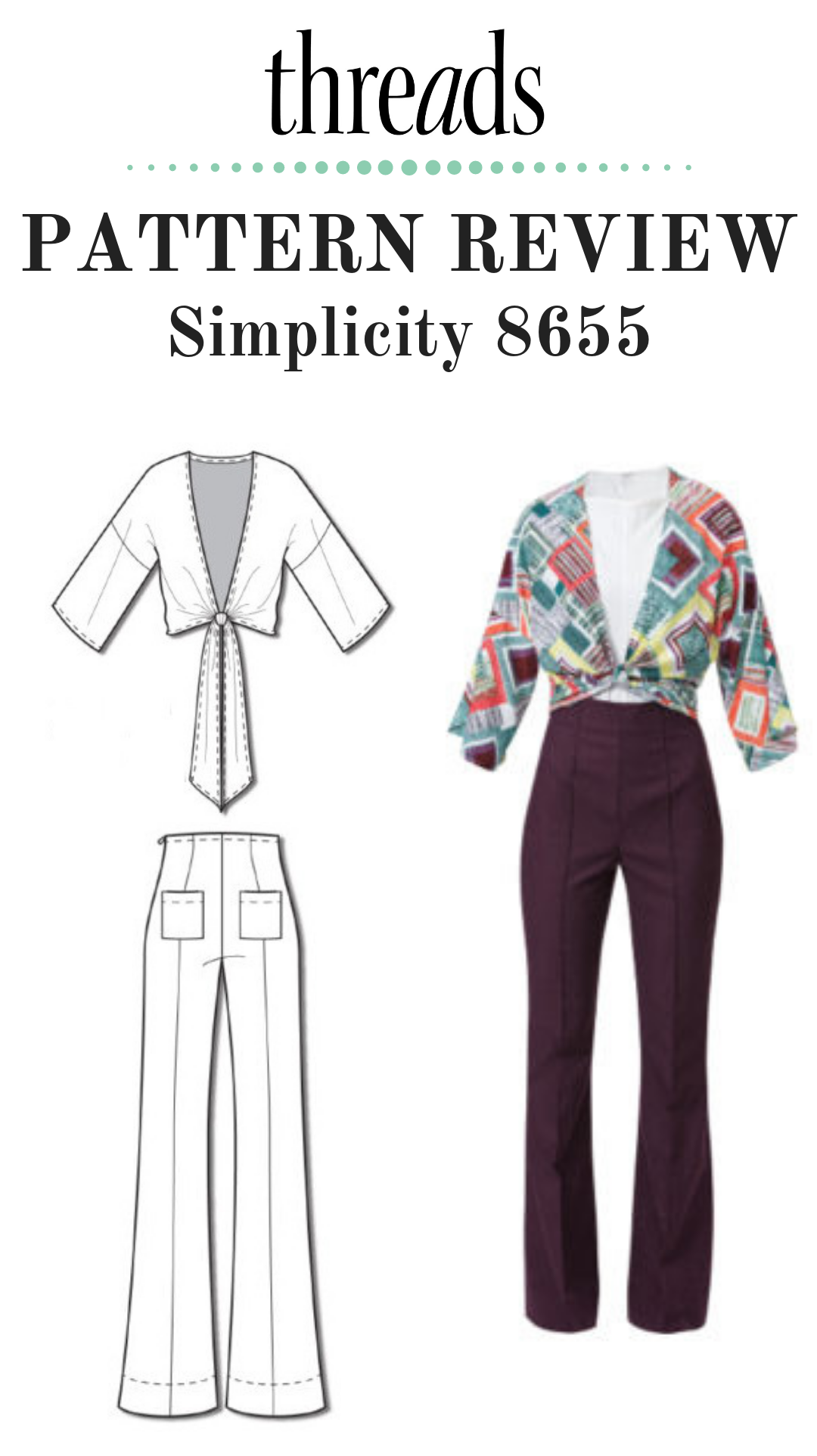 Pattern Review Simplicity 8655 Ensemble 70s Fashion Pattern