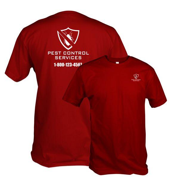 48783656 Pest Control Shield Uniform custom printed t-shirt for pest control  companies