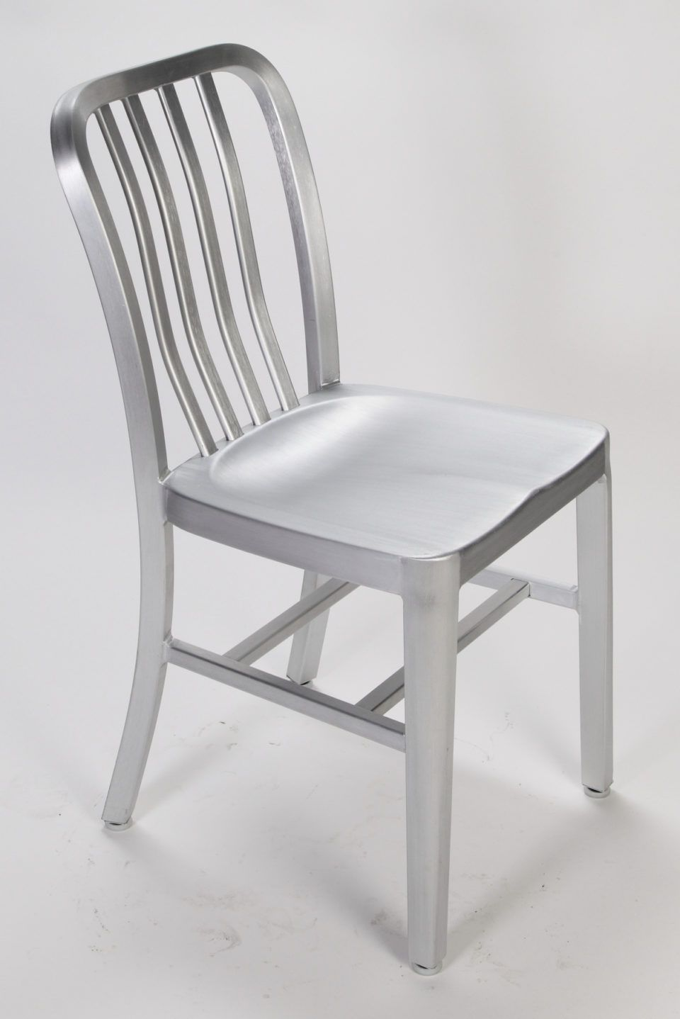Brushed Aluminum Dining Chair Dining Room Chairs Modern Metal