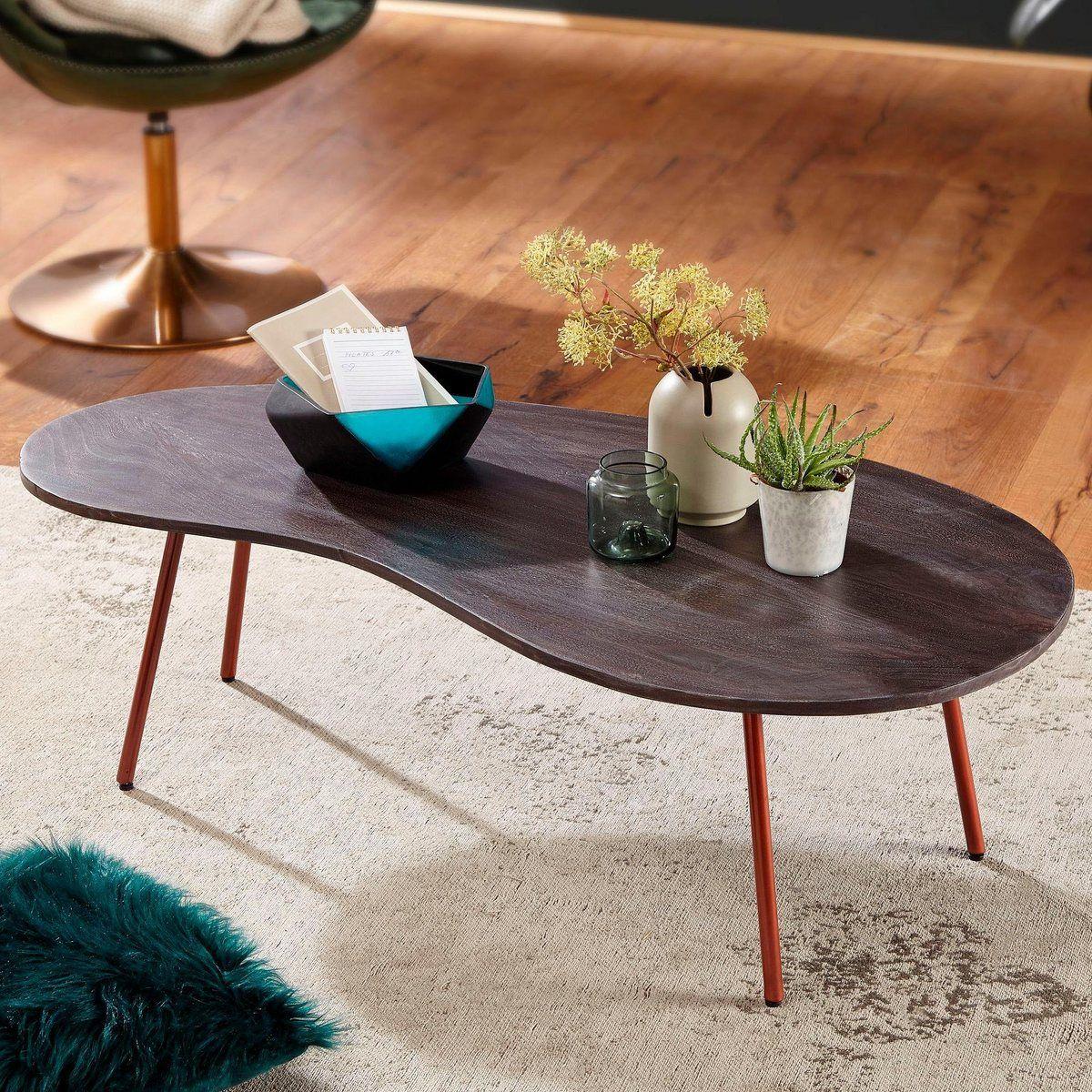BestLoft Couchtisch Beistelltisch Sofatisch massive Eiche Tisch Wohnzimmertisch