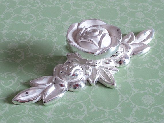 shabby chic dresser drawer knobs pulls handles silver white rose rh pinterest com shabby chic cabinet knobs and pulls shabby chic cabinet knobs and pulls