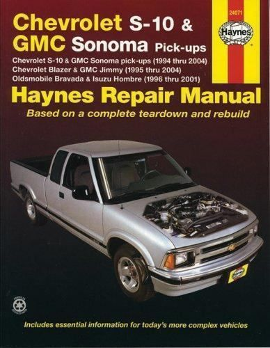 Haynes Manuals Chevrolet S 10 And Gmc Sonoma Pick Ups Chevrolet Blazer And Gm Books Nonfiction Ebay Chevrolet S 10 Gmc Repair Manuals