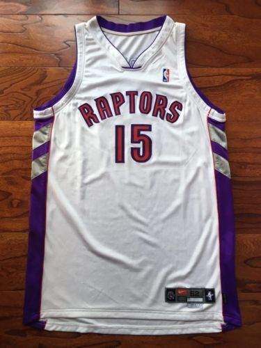 7fc9e57e7 2000-01 Vince Carter Toronto Raptors Game Used Issued Jersey