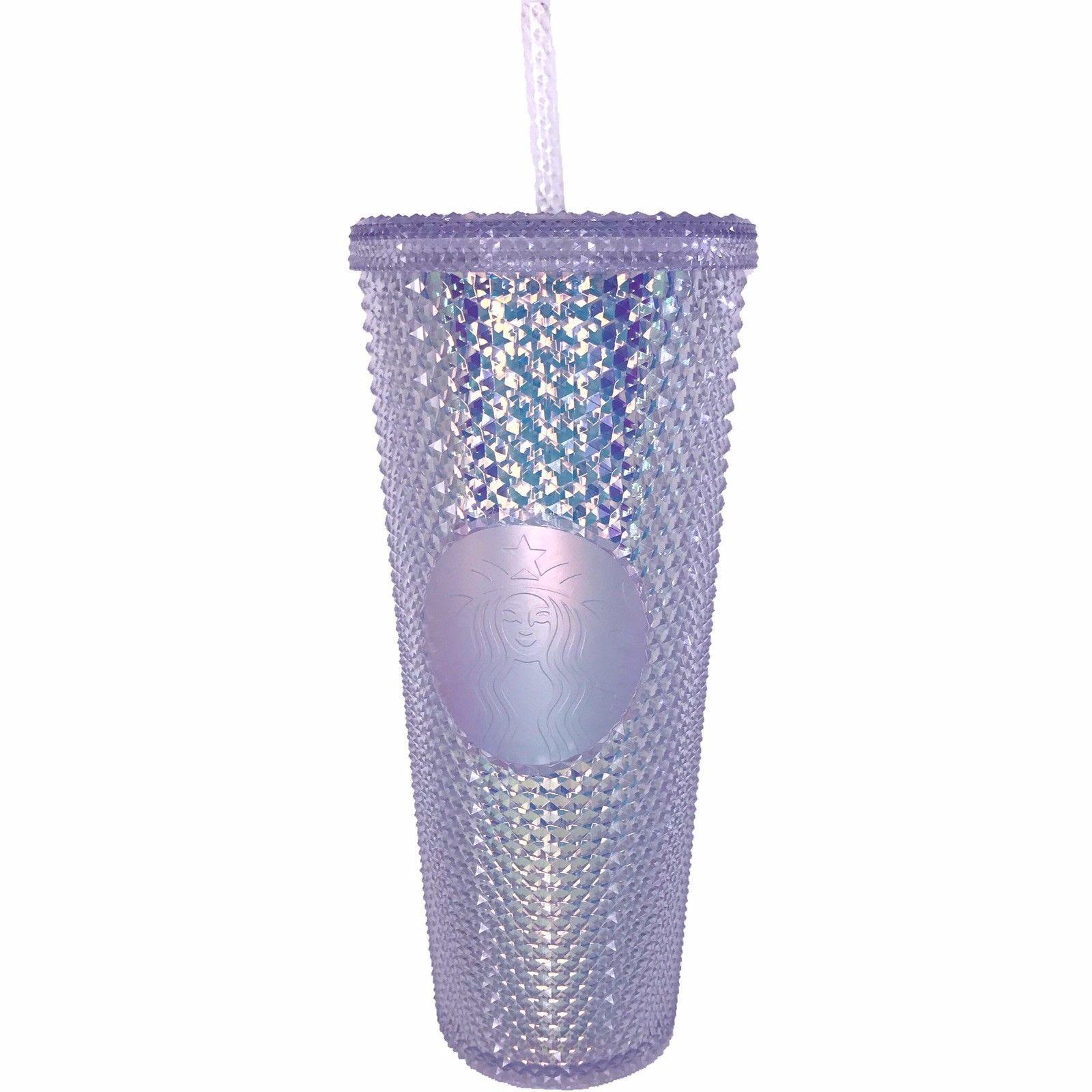 Starbucks Pink Rainbow Iridescent Hologram Tumbler cold Cup 24OZ holographic