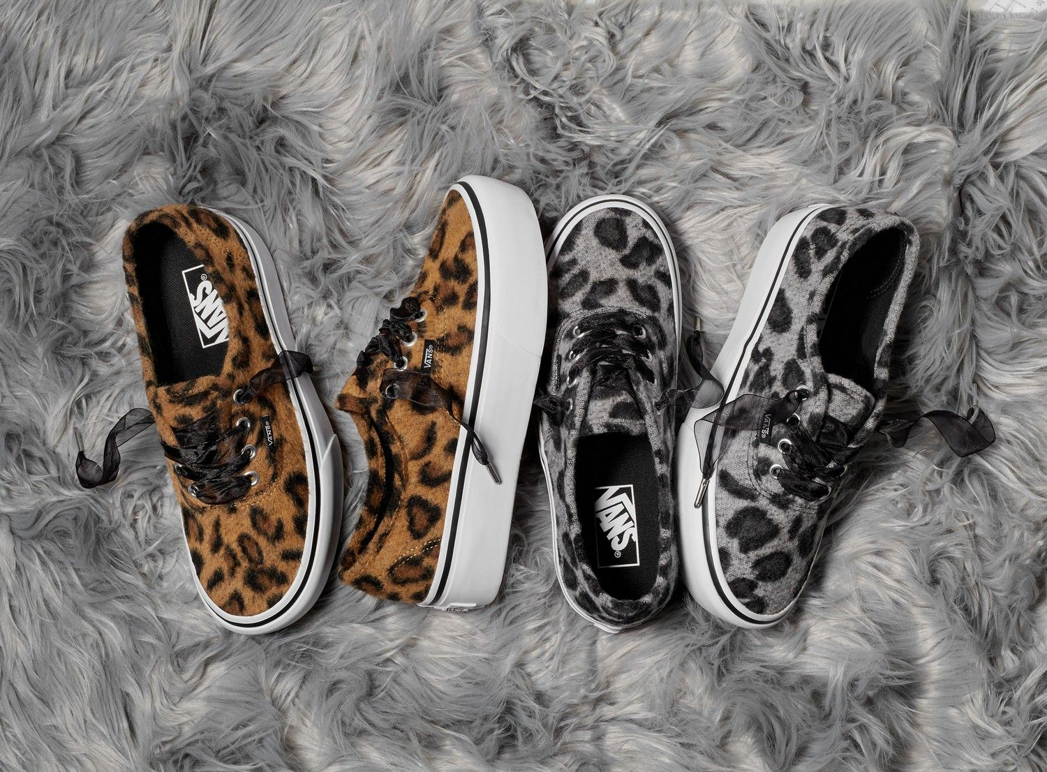 1f4c1945994a Vans Provides Authentic Platform And Slip-On A Fuzzy Leopard Make ...