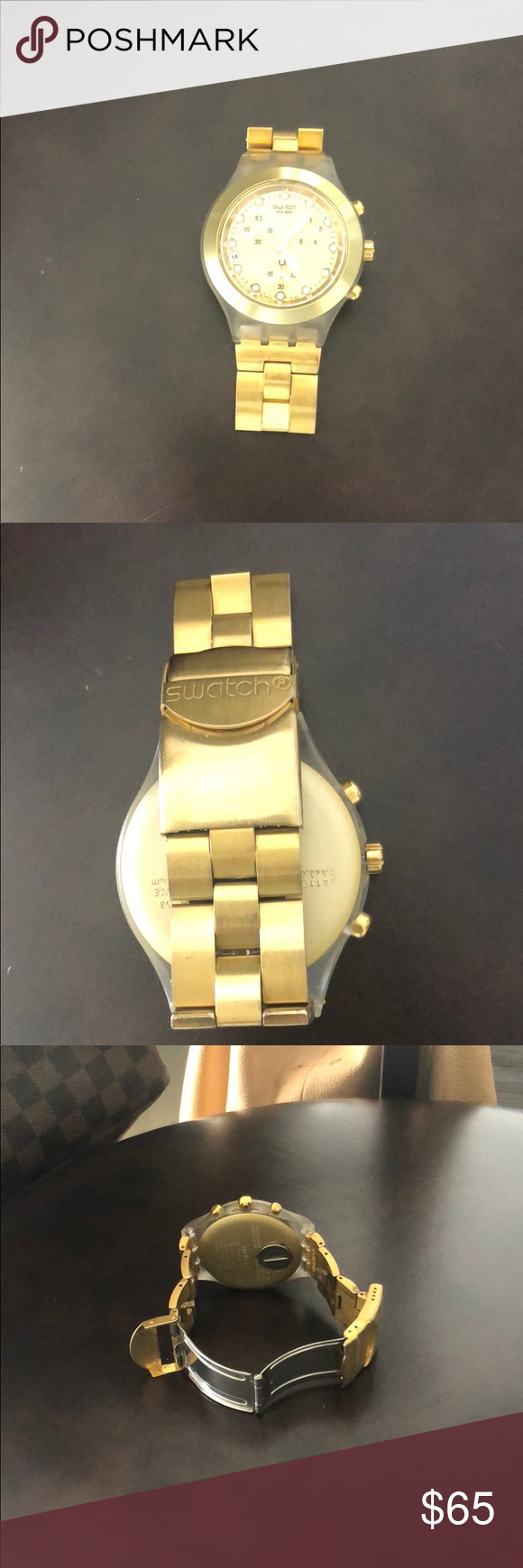 Swatch Irony Diaphane Gold Watch Gold Watch Gold Accessories Watches
