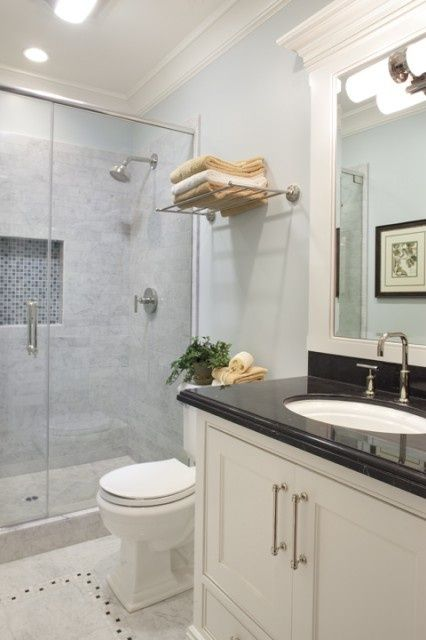 Most Design Ideas Small Master Bathroom Remodeling Ideas Pictures And Inspiration Modern House Dengan Gambar Benjamin Moore Mist