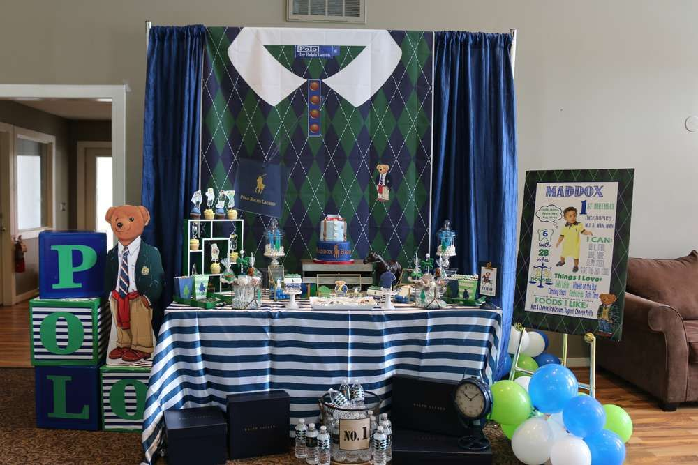 Polo Ralph Lauren Inspired Birthday Party Ideas Photo 13 Of 63