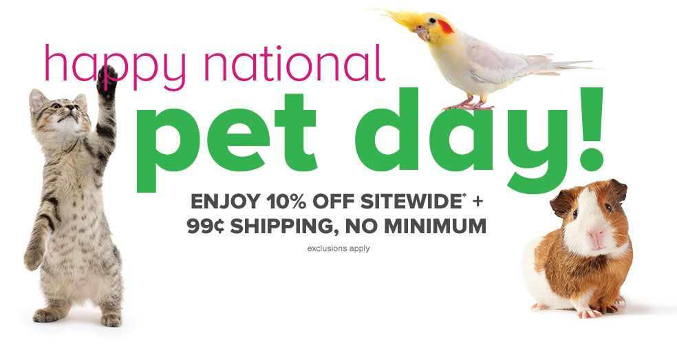 Enjoy NATIONAL PET DAY with petsmart grooming coupon 10