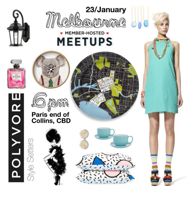 Polyvore Meetup Melbourne by eri-berry on Polyvore featuring Karen Walker, notNeutral, Z-Lite, women's clothing, women's fashion, women, female, woman, misses and juniors