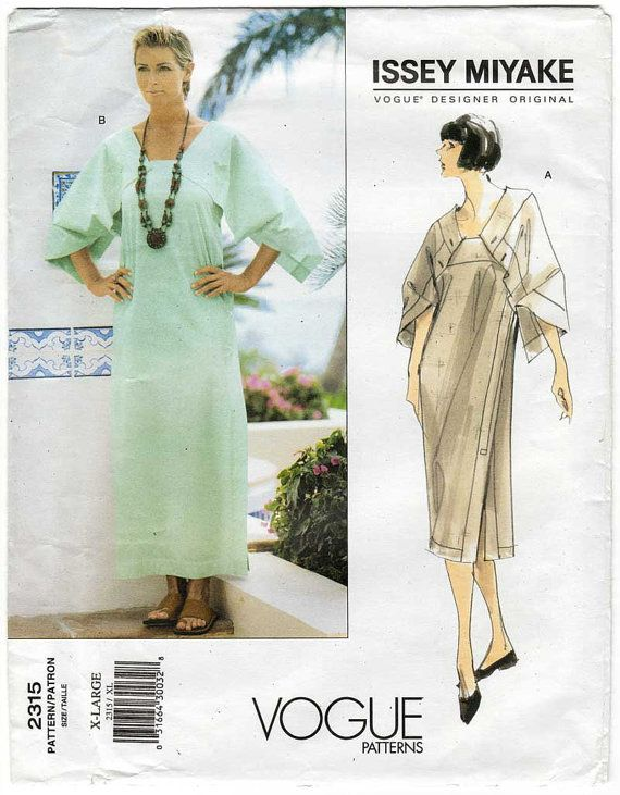 Issey Miyake Sewing Pattern Vogue 2315 X Large by VirtualVintage ...
