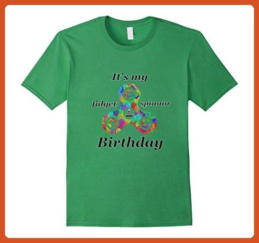 mens fidget spinner birthday t shirt xl grass birthday