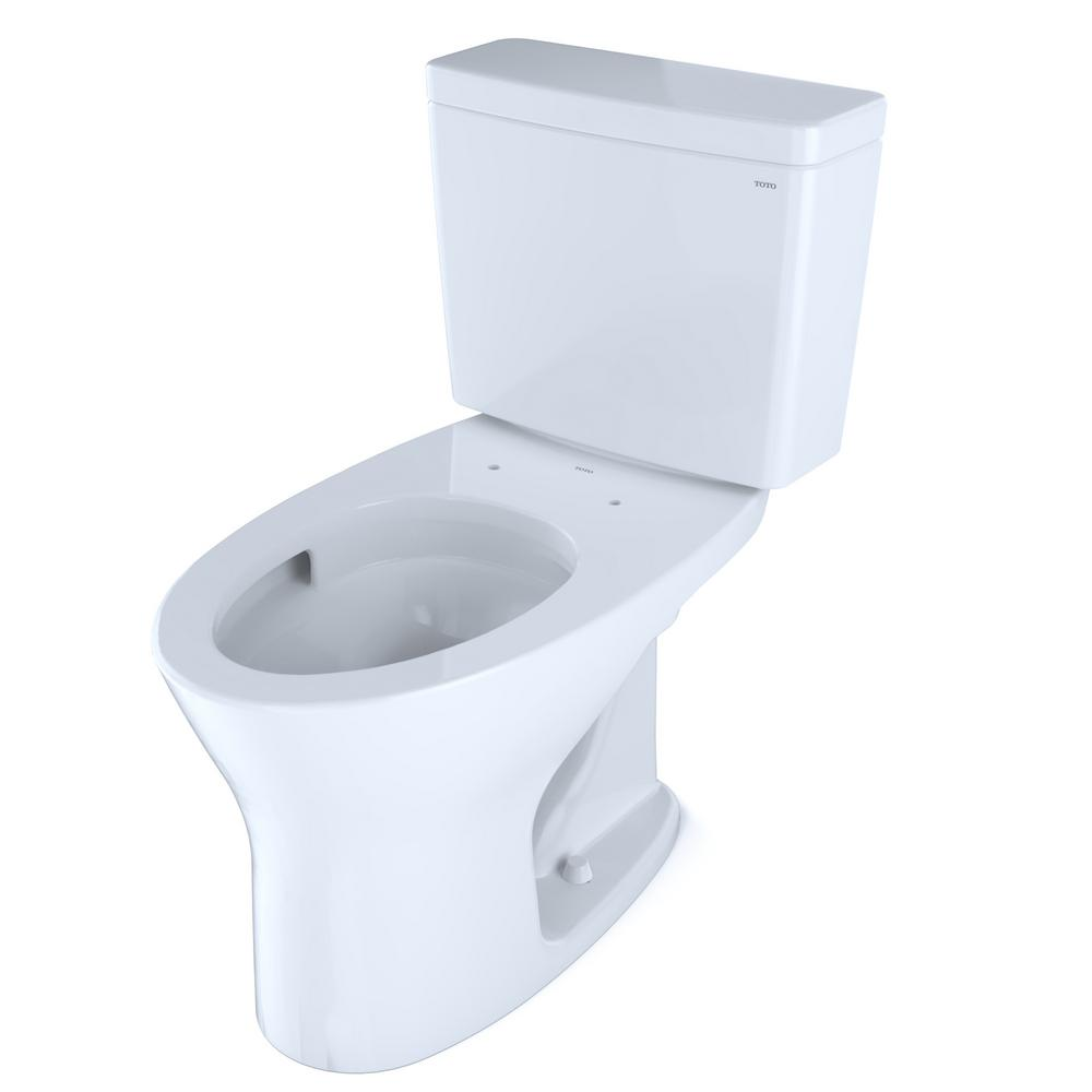 Toto Drake 2 Piece 0 8 Gpf And 1 28 Gpf Dual Flush Elongated Dynamax Tornado Flush Toilet In Cotton White Seat Not Included Cst746cemg 01 The Home Depot Dual Flush Toilet Toilet Cleaning Toto