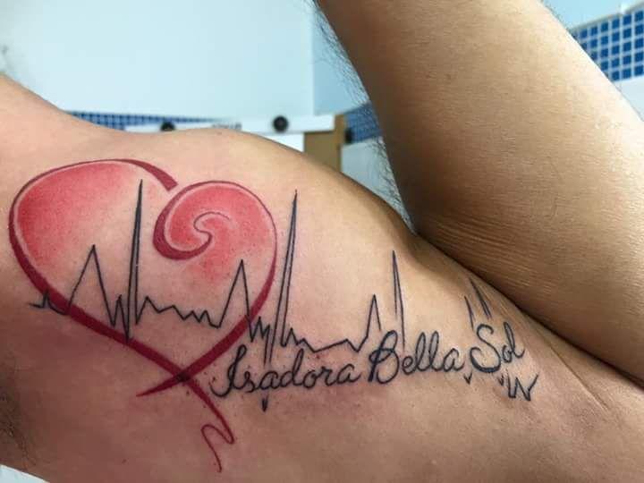 Batimento Cardíaco e nomes da esposa e das filhas #heart #batimento #homenagem #dg #dermographic #dermographictattoo # tattoo #tatuagem #ribeiraopreto #rp #inked #electricink by @mrpaultattoo