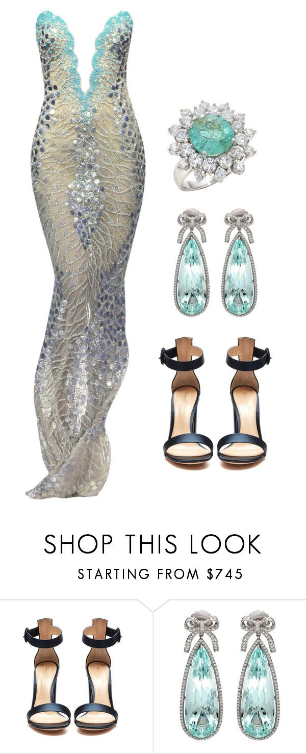"""Mermaid style  --- (ms)"" by ale-pink5 ❤ liked on Polyvore featuring Gianvito Rossi"