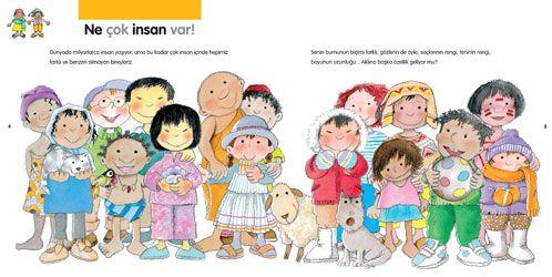 Il·lustració corresponent al llibre 'Nens i nenes del món'