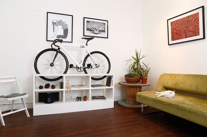 Clever Furniture Designed To Double As Bike Rack To Save Space In