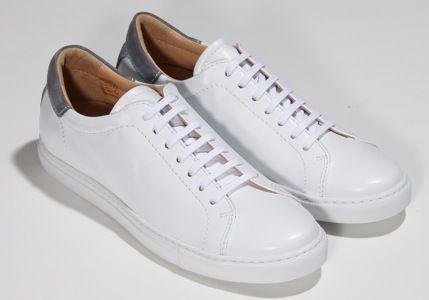 Epaulet Tennis Shoe White Calfskin by Epaulet