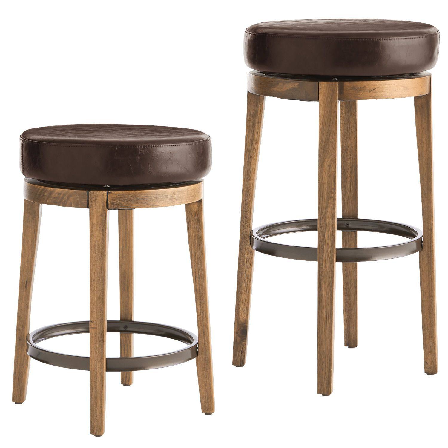 Stratmoor Burgundy Swivel Counter & Bar Stool