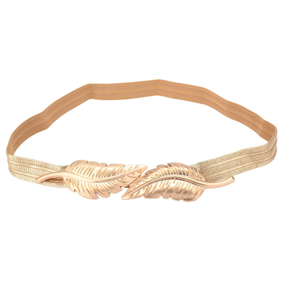 Elastic gold leaf belt style accessoriesjewels bling