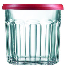3bf4902cbcc5 500ml Luminarc Red Topped Faceted Jam Jars (Packs of 6/12/18) Price ...