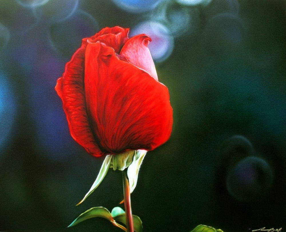 gesprayte Rose von .... by LindeA.